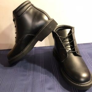 NEW! Rocky Men's Leather Chukka Boots Black 6.5
